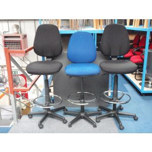 Used Draughtsman Chairs with Chrome Ring