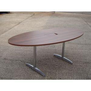 Walnut Oval Boardroom Table 1600 x 1000