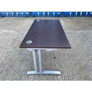 Walnut 1600 x 800 Desk & Pedestal