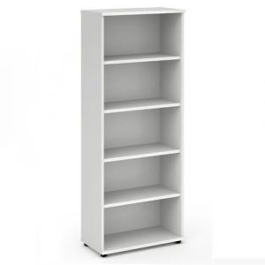Impulse White 2000 Open Bookcase