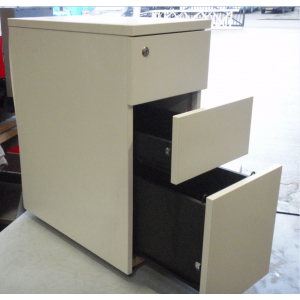 White Desk High Pedestal
