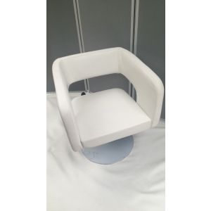 White Leather PU Reception waiting chair