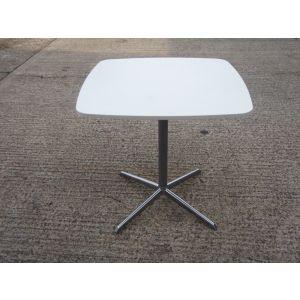 White Pedestal Base Table