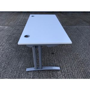 White 1600 Desk & Pedestal