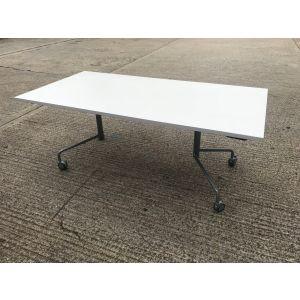 Virco White Flip Top Table