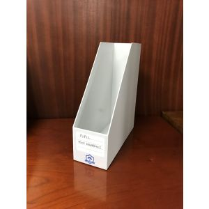 White Plastic File Holder