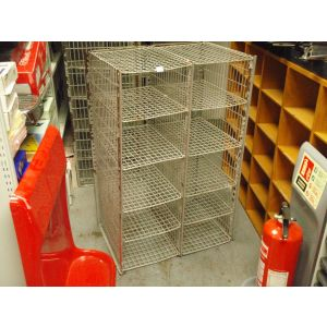 Wire Mesh Double Post Cabinet