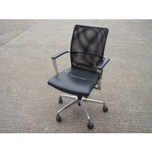Zuco Duca Leather & Mesh Conference Swivel Chair
