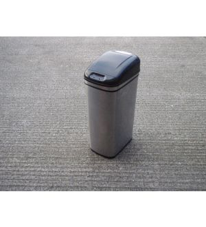 Stainless Steel & Black Recycle Bin