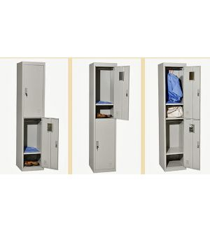 Grey Two Door Steel Locker