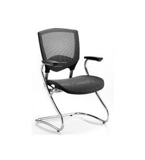 Alpha Mesh Cantilever Chair