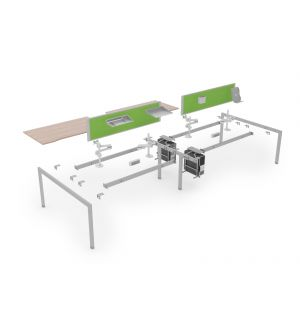 8 User 4800 Double Bench Lite System 1600 Leg Frame
