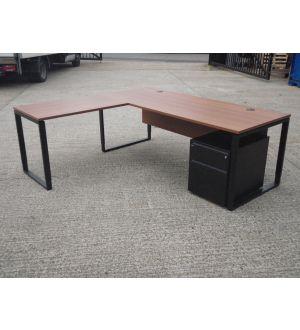 Bene Executive Desk with Return and Mobile Pedestal
