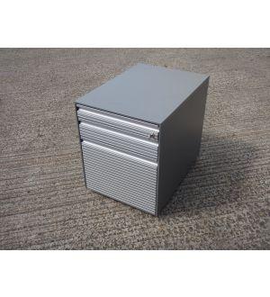 Bene Silver Grey Mobile Pedestal