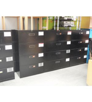 Black 4 Drawer Sidefilers