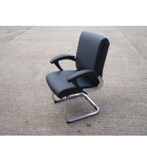 Romeo Black & Chrome Executive Meeting Chair