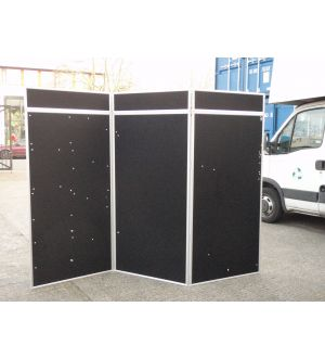 Black/White Double Sided Office 3 Fold Screen