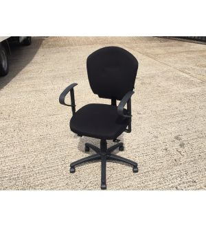 Ness Multi-Functional Black Operator Chair