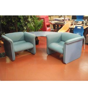 Blue Corner Seating Unit