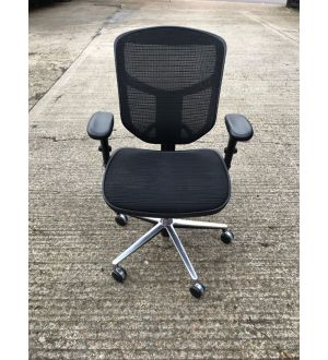 Chrome Mesh Operator Chair