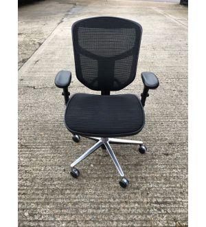 Chrome Mesh Operator Chair