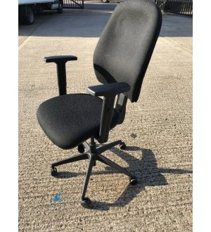 Black Multi-Functional Operator Chair
