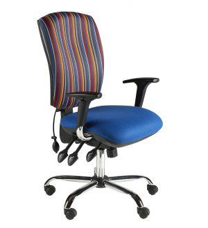 Chrome Task Chairs Adjustable Arms