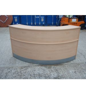Curved Maple Reception Desk