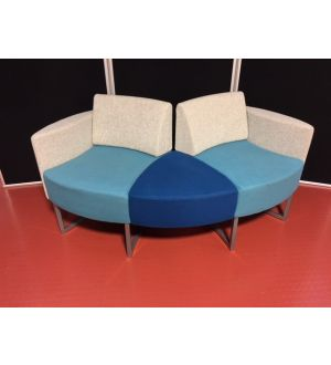 Multi-Coloured Curved Reception Seating