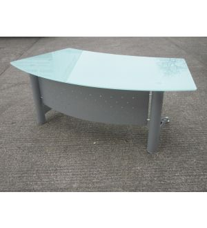 Glass Executive Curved Desk