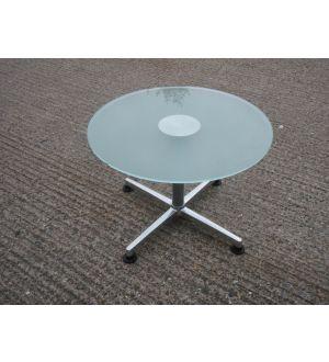 Glass Pedestal Base Coffee Table