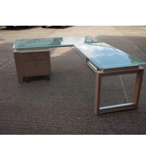 Glass Top Executive Desk 2000 x 900