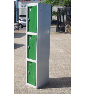 Green 3 Door Lockers