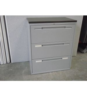 Grey 3 Drawer Side-filer