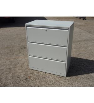 Grey 3 Drawer Side-Filer