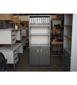 Grey and Glass Office Storage 3 in Stock