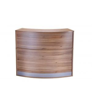 High Curved Reception Desk Unit