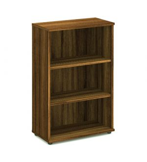 Impulse Walnut 1200 Open Bookcase
