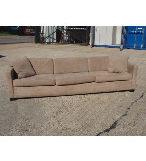 Large Faux Suede Settee and Cushions