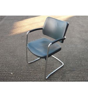 Leather and Chrome Meeting Room Chair