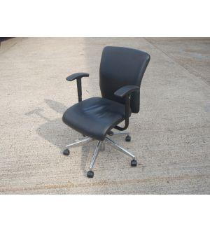 Leather Orangebox Go Operator Chair