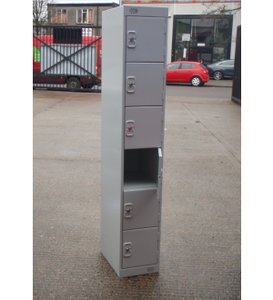 Light Grey 6 Door Lockers with Keys