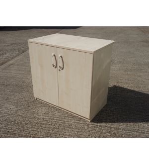 Maple Desk High Storage Cabinet