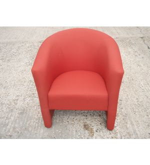 Orangebox Reception Tub Chairs Three Red in Stock.