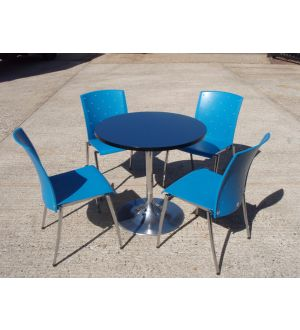 Pedestal Base Table with 4 Chairs