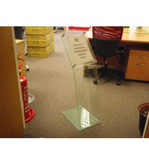 Perspex Airport Stands