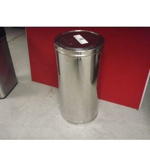 Round Chrome Waste Bins
