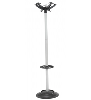 Silver Hat and Coat Stand
