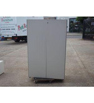 Off White 2 Door Storage