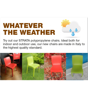 Strata Polypropylene Stacking Chair